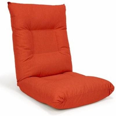 【納期目安:1週間】ヒロ・プランズ grace-org フリーロック14段リクライニング座椅子 FRグレース(オレンジ) (graceorg)
