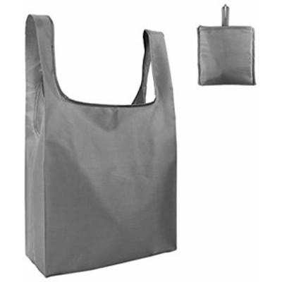 エコバッグ 折りたたみ 人気 選べる8色 エコバック コンビニ コンパクト 男性 買い物袋 (グレー)