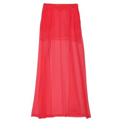 セミクチュール SEMICOUTURE ロングスカート レッド 38 シルク 100% ロングスカート