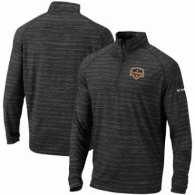 Columbia コロンビア スポーツ用品  Columbia Houston Dynamo Black Approach Raglan Quarter-Zip Pullover Jacket