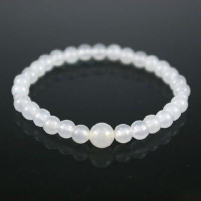 ホワイトオニキス ストーンブレスレット 数珠 6mm珠/8mm珠 ネコポス対応