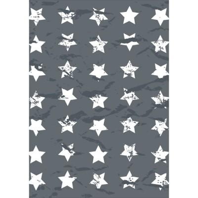ポスター ウォールステッカー シール式 203×254mm 六つ切り 写真 壁 インテリア おしゃれ wall sticker poster 星 スター 模様 006642
