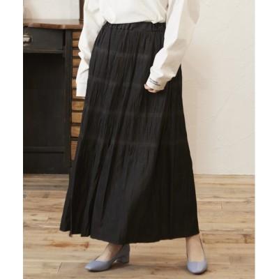 FIG&VIPER / デニムマジョリカプリーツマキシスカート WOMEN スカート > デニムスカート