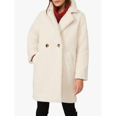 フェイズ・エイト ジャケット&ブルゾン レディース アウター Phase Eight Katherine Long Teddy Coat, Cream