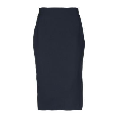 メルシー ..,MERCI ひざ丈スカート ダークブルー 44 ポリエステル 85% / レーヨン 10% / ポリウレタン 5% ひざ丈スカート