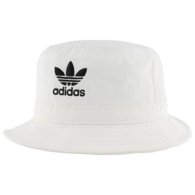 アディダス adidas Originals ユニセックス ハット バケットハット 帽子 Washed Bucket Hat White/Black