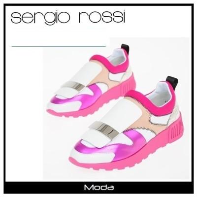 セルジオロッシ スニーカー レディース ピンク Sergio Rossi 靴 ローカット