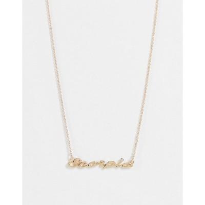 モンキ レディース ネックレス・チョーカー・ペンダントトップ アクセサリー Monki Zodiac Scorpio sign necklace in gold Gold