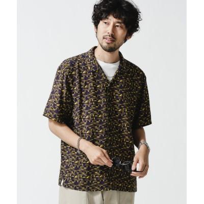 nano・universe / 幾何学レーヨンオープンカラーシャツ MEN トップス > シャツ/ブラウス
