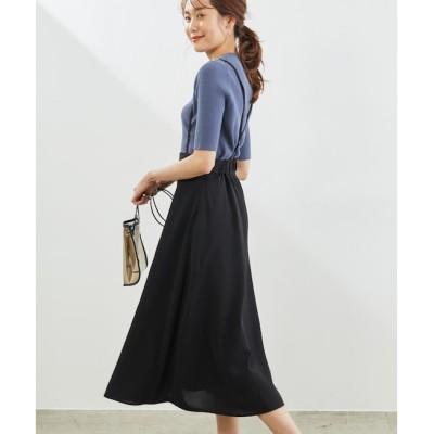 【ロペピクニック/ROPE' PICNIC】 サス付きフレアースカート