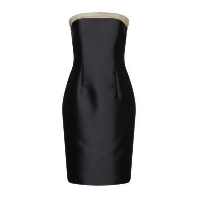 ATELIER NICOLA D'ERRICO ミニワンピース&ドレス ブラック 46 ポリエステル 87% / シルク 13% ミニワンピース&ド