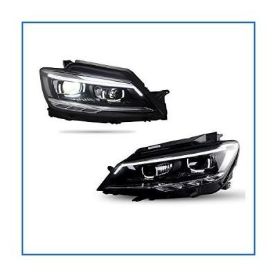 2PCS Headlight Assemblies For Volkswagen Lamando 2015-2018 Bi-Xenon Lens Projector Double Beam Xenon HID KIT With LED Daytime Running Lights