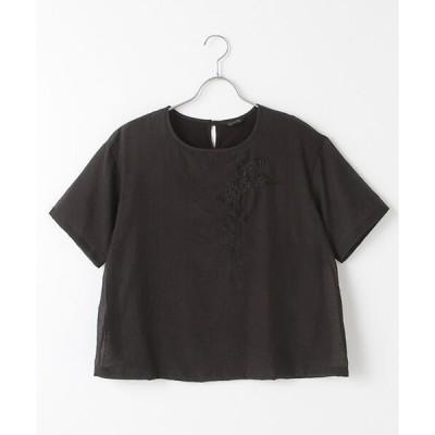 INGEBORG / インゲボルグ スズラン刺繍ポイントカットソー
