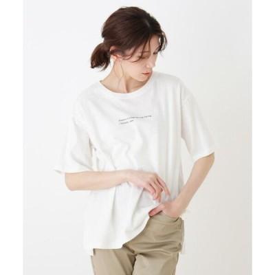 SHOO・LA・RUE / シューラルー ドロップショルダーグラフィックTシャツ