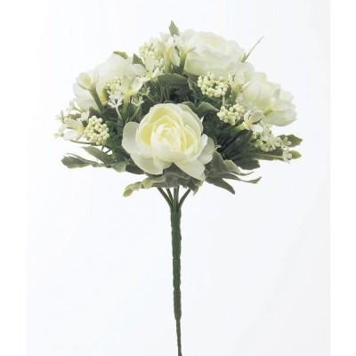 《 造花 》◆とりよせ品◆Asca(アスカ) ☆ミックスフラワーブッシュ ホワイト
