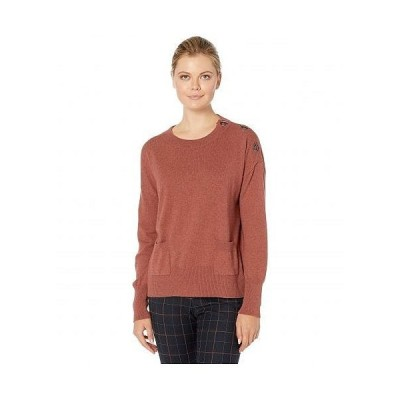 Elliott Lauren レディース 女性用 ファッション セーター Tog Along Toggle Detail Sweater with Two-Pockets - Nutmeg