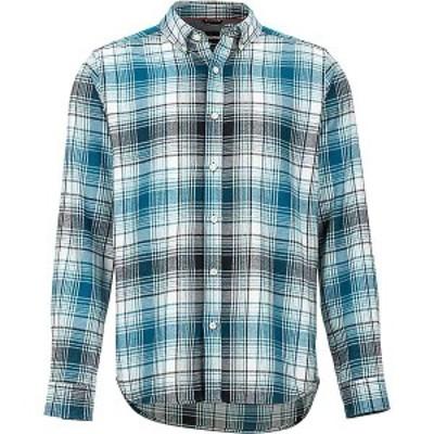 マーモット メンズ シャツ トップス Marmot Men's Harkins Lightweight Flannel LS Shirt Moroccan Blue