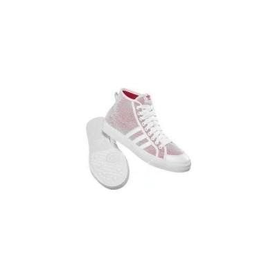 adidasアディダス NIZZA HI BEACH 24.5cm ホワイト/レッド G19042-245