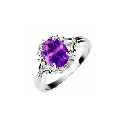 リング 指輪 ミラーオブアメジストリング B0833 送料無料