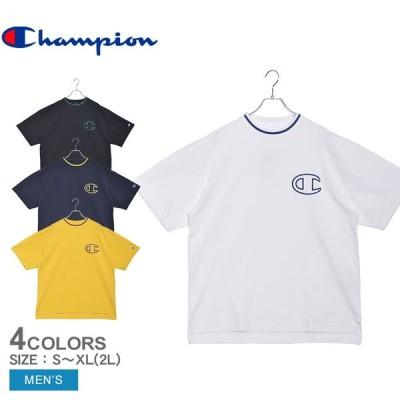 ( 40%以上OFF ) チャンピオン Tシャツ 半袖 メンズ CHAMPION C3-R301 ホワイト 白 ブラック 黒 ブランド クルーネック 服 秋