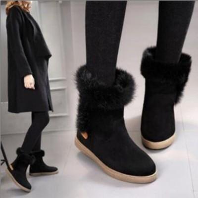 ムートンブーツ レディース 靴 ショートブーツ あったか ローヒール  裏起毛 スノーブーツ 防寒 美脚 厚手 冬物 ふわふわ  定番 可愛い 女性用