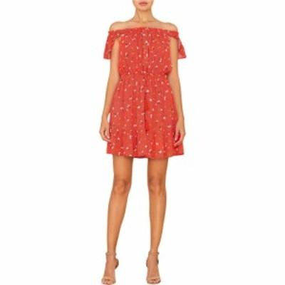 ミス ミー Miss Me レディース ワンピース ワンピース・ドレス Floral Print Off Shoulder Mini Dress Red