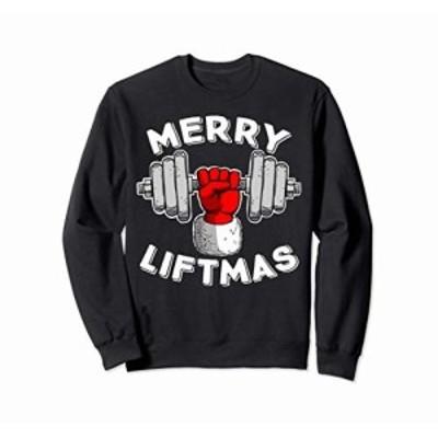 funny Swole Santa Claus Mery Liftmas トレーナー