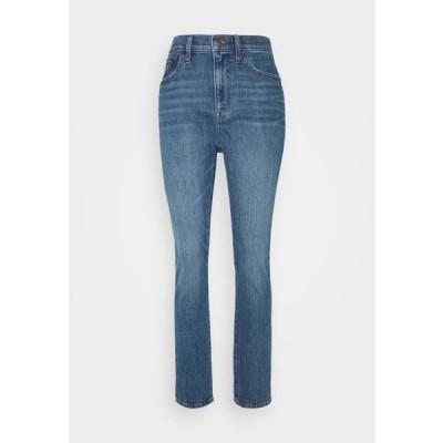 メイドウェル レディース スリム HIGH RISE BOY - Slim fit jeans - moorland
