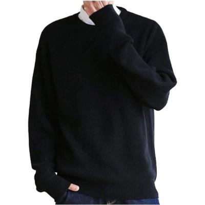 [ガナタ] ベーシック レーヨン ニット セーター 大人 カジュアル きれいめ オシャレ トップス あったか 厚手 軽量 軽い シンプル デザイン 長