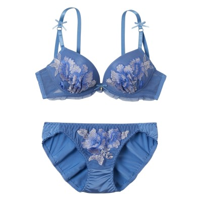 パッションカラーフラワーレース ブラジャー・ショーツセット(F70/M) (ブラジャー&ショーツセット)Bras & Panties