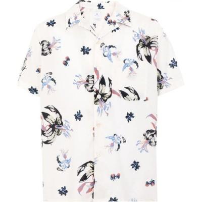ポールスミス PS PAUL SMITH メンズ 半袖シャツ トップス Ss Casual Fit Shirt Patterned Shirt Ivory