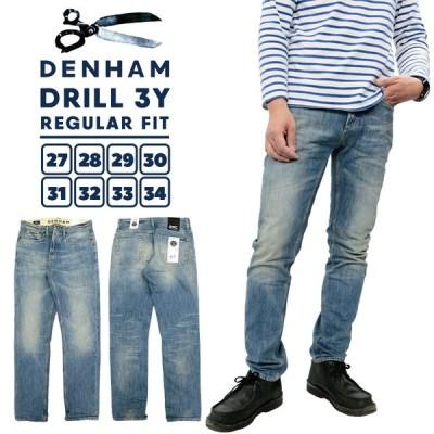 デンハム メンズ ボトムス DENHAM 01-13-11-11-032 DRILL 3Y REGULAR FIT | レギュラーフィット デニム パンツ ジーンズ コットン 100% ユーズド 加工 ブランド