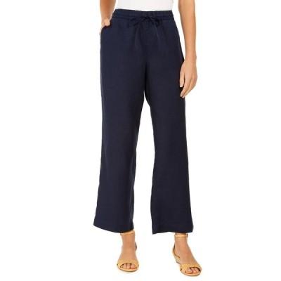 チャータークラブ カジュアルパンツ ボトムス レディース Linen Drawstring-Waist Pants Intrepid Blue