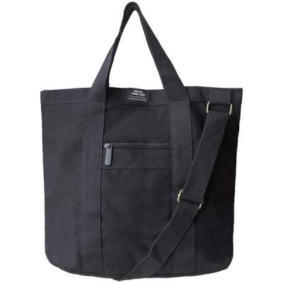 UMETOO(ウメトゥー) トートバッグ メンズ キャンバス 大容量 2way シンプル おしゃれ 軽量 トート バッグ ファスナー付き シ