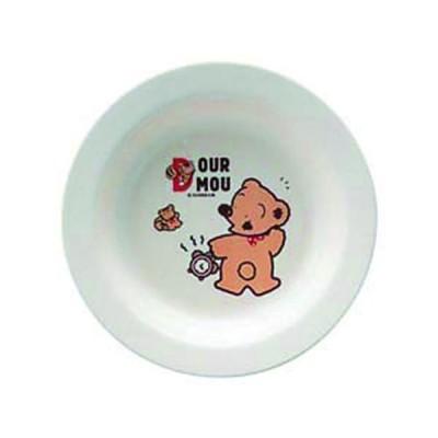 お子様用 食器 テ゛ュールムー おやつ皿 φ160mm 食洗機対応 メラミン 国産 日本製
