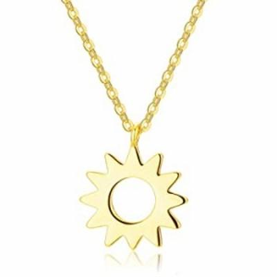 ネックレス DELLA MODA ゴールドサンペンダントネックレス | 16インチ | 18Kゴールドメッキ 低刺激性真鍮