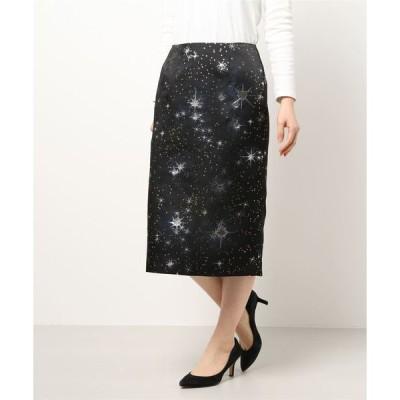 スカート TBX9 JUPE 星柄ジャガードスカート