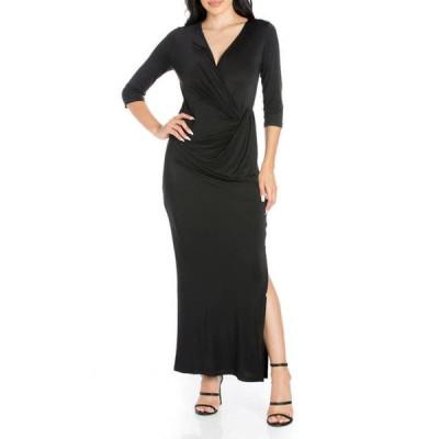24セブンコンフォート レディース ワンピース トップス Women's Casual 3/4 Sleeve Maxi Dress