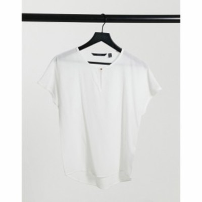 ヴェロモーダ Vero Moda レディース トップス short sleeve top in white ホワイト