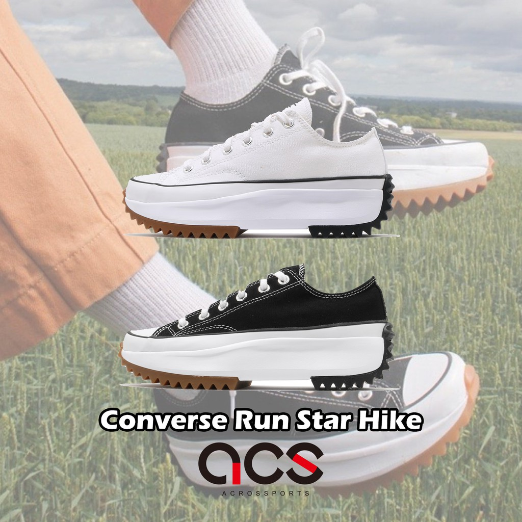 Converse Run Star Hike 低筒 黑 白 任選 男鞋 女鞋 厚底 鋸齒鞋 增高 帆布鞋【ACS】