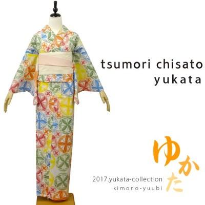 浴衣 レディース ブランド 浴衣 ゆかた お仕立上がり  ツモリチサト-tsumori chisato 浴衣単品 ( 風車 7T-10 )