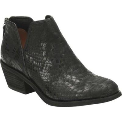 ソフト ブーツ&レインブーツ シューズ レディース Abena Bootie (Women's) Black Snake Print Leather
