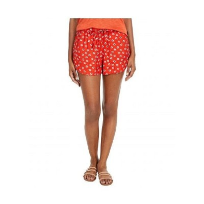 RVCA ルーカ レディース 女性用 ファッション ショートパンツ 短パン New Yume Floral - Paprika