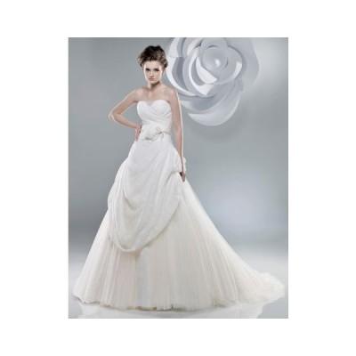 wdk706ゴージャスなプリンセスドレスウエディングドレスふんわりしたボリューム感