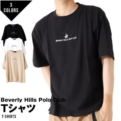 【ゆうパケット便送料無料】_3 ビバリーヒルズポロクラブ Beverly Hills Polo Club Tシャツ メンズ 大きめ 半袖 半そで