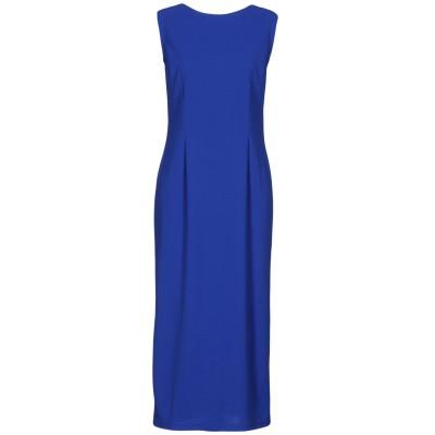 M by MAIOCCI 7分丈ワンピース・ドレス ブルー 38 ポリエステル 50% / ポリウレタン 50% 7分丈ワンピース・ドレス