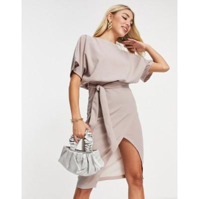 アックスパリ レディース ワンピース トップス AX Paris kimono sleeve midi dress in pink