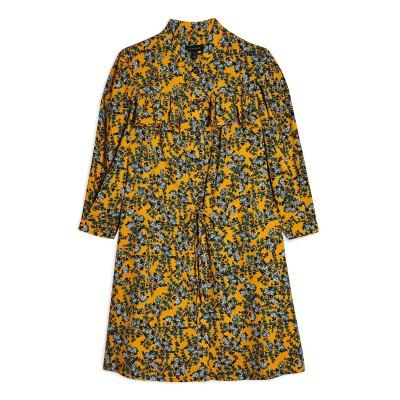 トップショップ TOPSHOP ミニワンピース&ドレス イエロー 6 ポリエステル 100% ミニワンピース&ドレス
