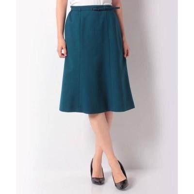 LAPINE BLANCHE / ラピーヌ ブランシュ ベルト付きスカート/ウールピーチジョーゼット