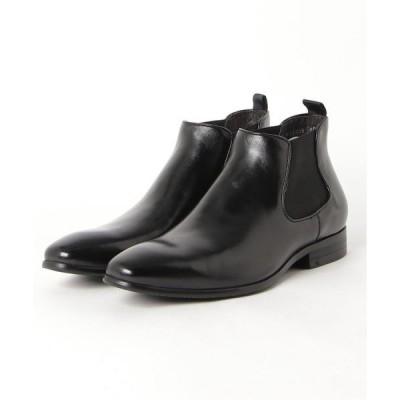 ブーツ アラウンドザシューズ/around the shoes  ブラッシュドカーフ チェルシーブーツ